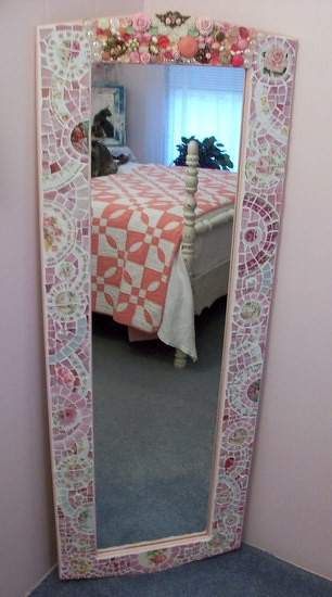 Fabulous Large Wall MIrror Shabby Mosaic | Flickr - Photo Sharing!
