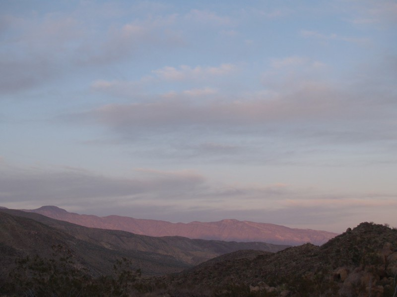 Sunset in Collins Valley: Alpenglow on Rabbit and Villager Peaks