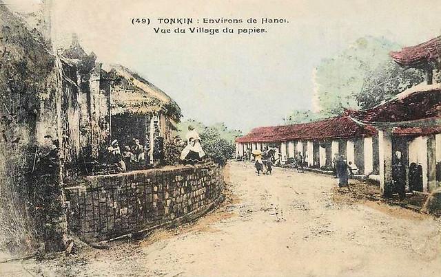 TONKIN: Environs de Hanoi - Vue du Village du papier