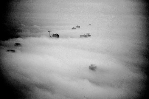 North Lake Shore Drive and Fog - Chicago