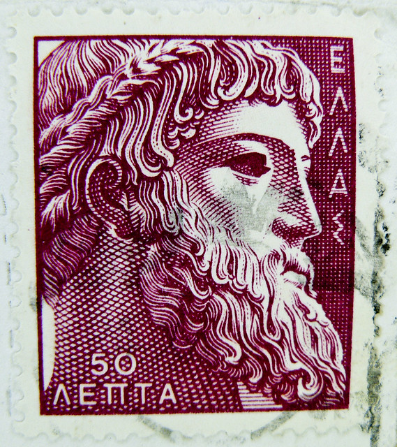 beautiful stamp Greece Hellas 50 Dr (Zeus, Euboia; Kap Artemision auf Euböa; greek mythology, Εύβοια) postage bollo francobolli timbre γραμματόσημα Ελλάδα 希腊 邮票 yóupiào Xīlà  Греция марка stamp Hellas Greece postage poste timbres Grèce bolli selos Grécia