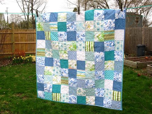 modern vintage quilt--further