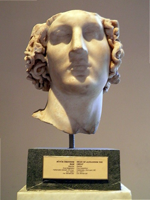 Head of Alexander the Great, Sculptures of the Hellenistic period, Istanbul Archaeology Museum