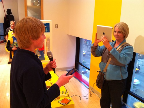 iPad Video Interview with iRig Mic at the Lego Store