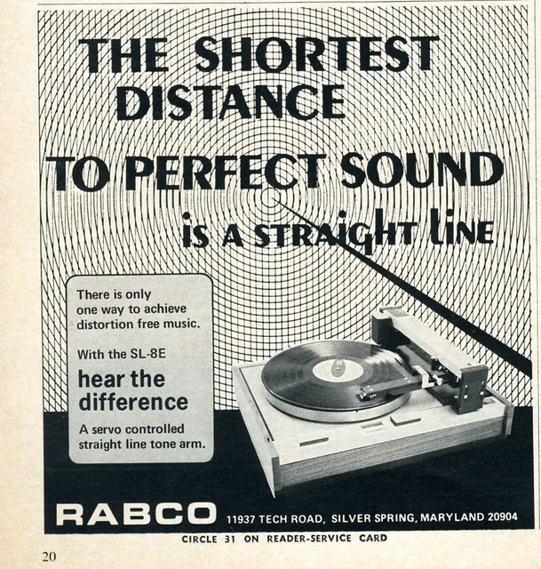 Rabco SL-8E Straight Line tracking turntable 1971