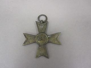 2011-115-1 Medal, War Merit Cross, Germany, Reverse
