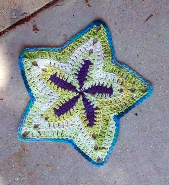 Free Crochet Starfish Dishcloth Pattern : starfish dishcloth Flickr - Photo Sharing!