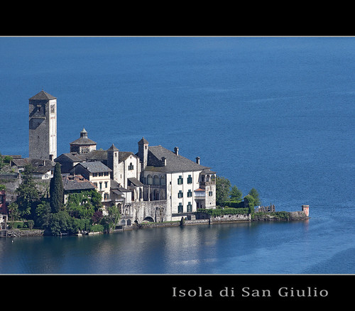 "Isola San Giulio, piemonte from the book ""Lamberto, Lamberto, Lamberto"" by Gianni Rodari"