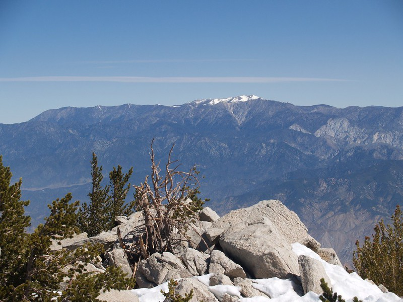 San Gorgonio Mountain from the summit of San Jacinto.