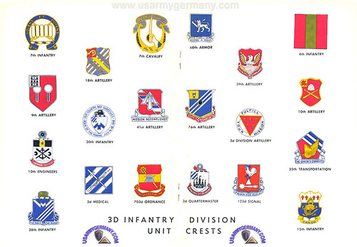 Unit Crests of the 3rd Inf Div 1962