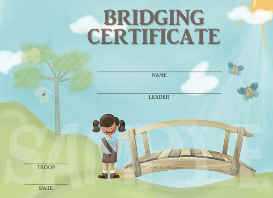 Girl Scouts Bridging Certificate | Flickr - Photo Sharing!