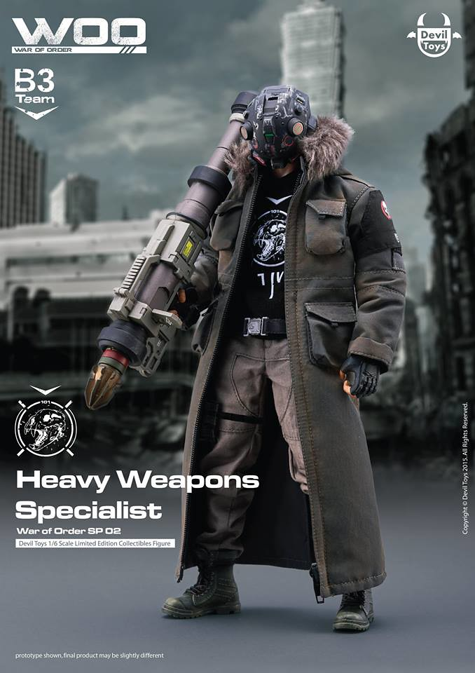 TTF2016 限定版!Devil Toys - War of Order: SP 02 - Heavy Weapons Specialist (熊骨小隊--重砲防衛者)