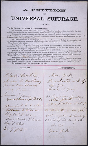 Petition of E. Cady Stanton, Susan B. Anthony, Lucy Stone, and others...ca. 1865