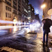 'A Foggy Empire', United States, New York City, 5th Avenue & 20th St., Cold Spring Night by WanderingtheWorld (www.ChrisFord.com)