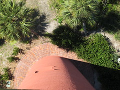 Looking down from the Jupiter Lighthouse