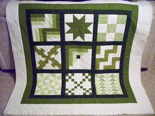 Borders applied and quilted