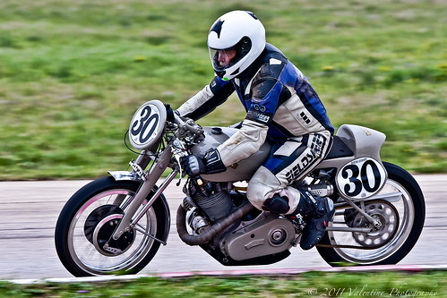 Vintage Racing Vincent Motorcycle