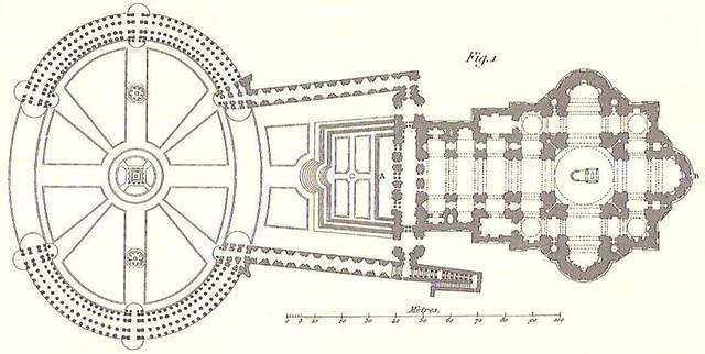 Planta De La Plaza Y De La Basílica De San Pedro Del