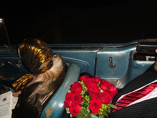oct 2006 riding home from a great night with Chuck Ramirez in Mike Caseys convertible.