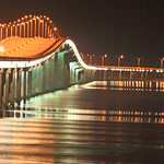 Bay St. Louis bridge at night