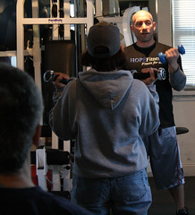 Robert Kagen teaching a class at HOPEFitness in North Bellmore, N.Y.