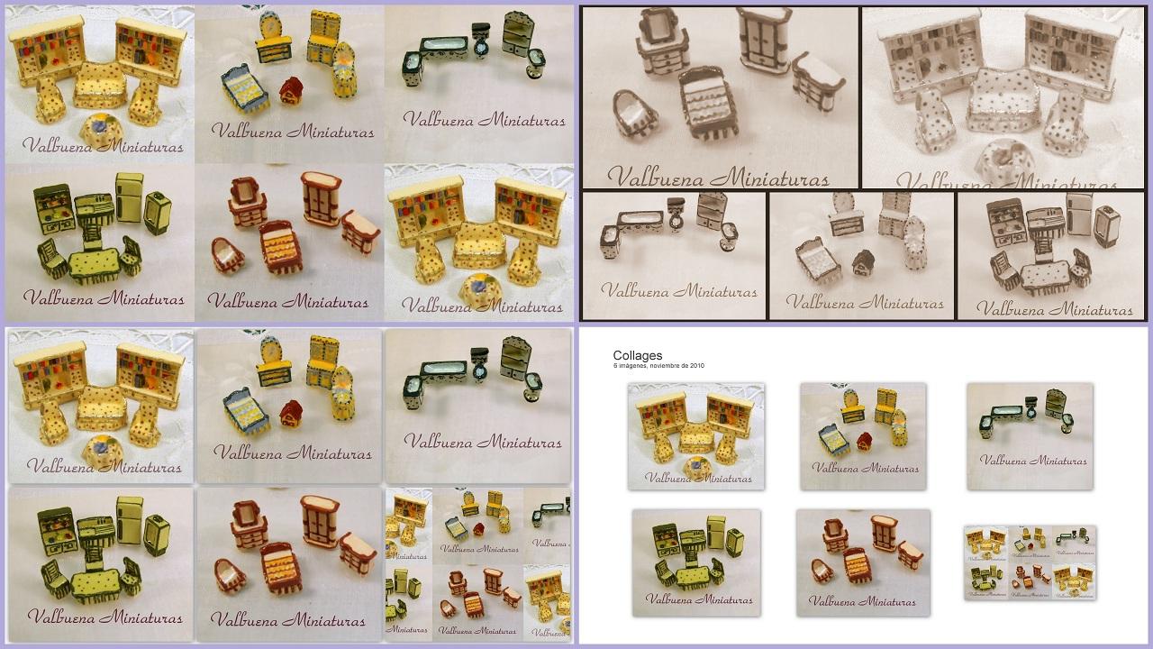 Miniaturas collage muebles escala 1 144 for Muebles a escala 1 50 para planos