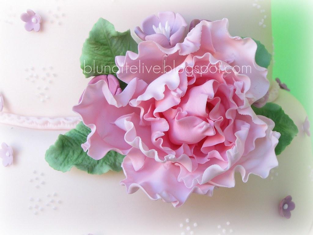 Peony Rose Decorated Cake