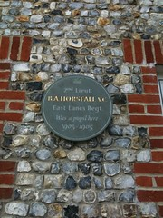 Photo of Basil Horsfall grey plaque