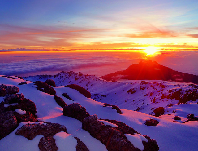 Sunrise at Summit of Kilimanjaro