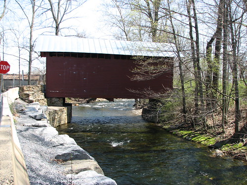 Roddy Road Covered Bridge Crossing Owens Creek