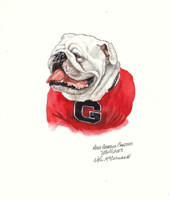 Georgia Bulldogs Uga Artwork Flickr Photo Sharing