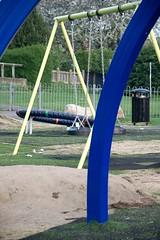 playground slide(0.0), outdoor play equipment(1.0), swing(1.0), playground(1.0),