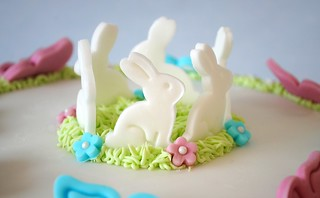 Bunnies on cake