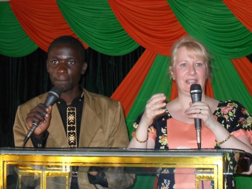 Catherine teaching in Eldoret
