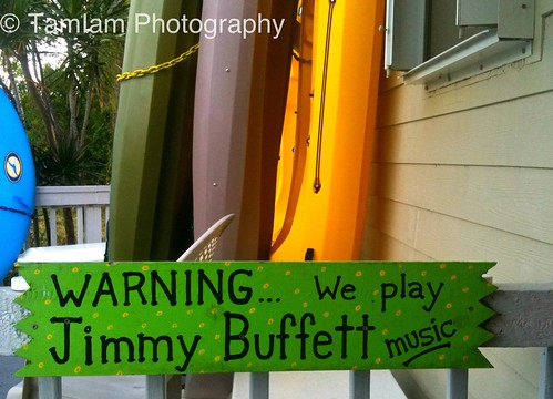 Jimmy Buffett sign