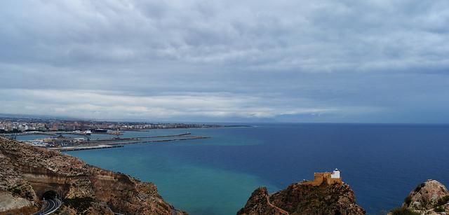 Vista desde Castell del Rey, Almería.