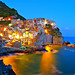 After sunset in Manarola, Cinque Terre.
