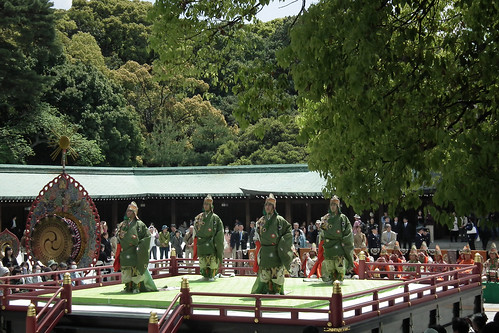Bugaku Dance Performance at Meiji Shrine (2011)