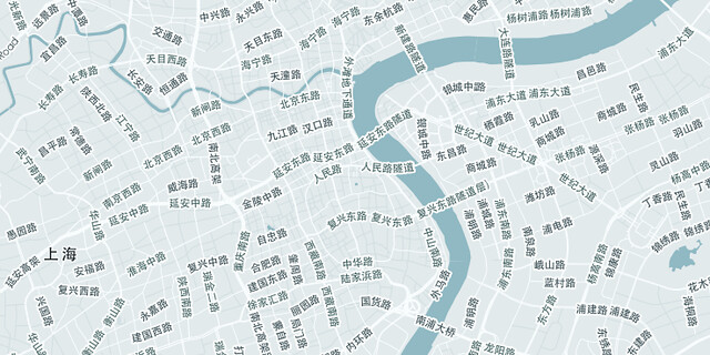 Map of Shanghai...