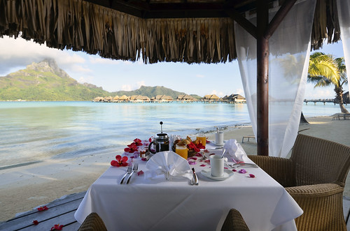 InterContinental Bora Bora  Resort & Thalasso Spa private breakfast