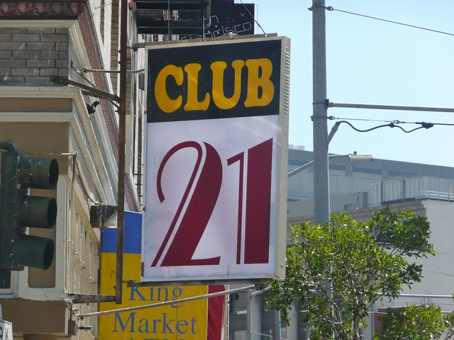 21 CLUB SAN FRANCISCO CALIF.