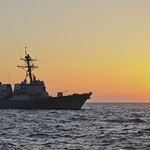 USS Truxtun transits the Mediterranean Sea