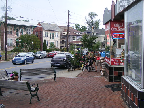 Storefronts & People, Carroll Avenue, Takoma Park