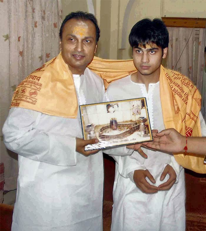 Anil Ambani and son at Mahakal Temple in Ujjain