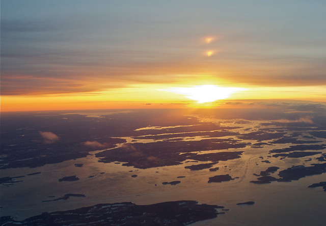 Tramonto sul baltico