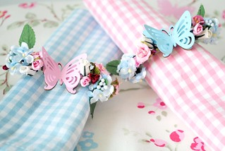 Hand-made Pretty Butterfly Napkin Holders