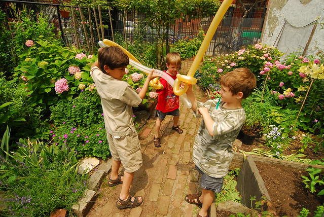 Children Playing at Clinton Community Garden