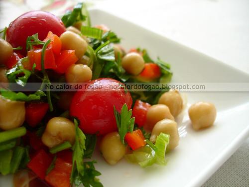 Salada preferida de grão-de-bico