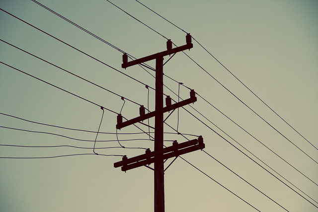 (flickr profile picture) Telephon pole and wires, the richmond, San Francisco