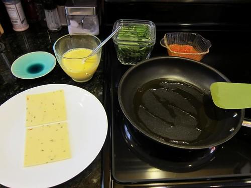 omelette, cooking demonstration, eggs IMG_5410